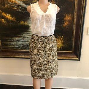 Worthington zebra print skirt